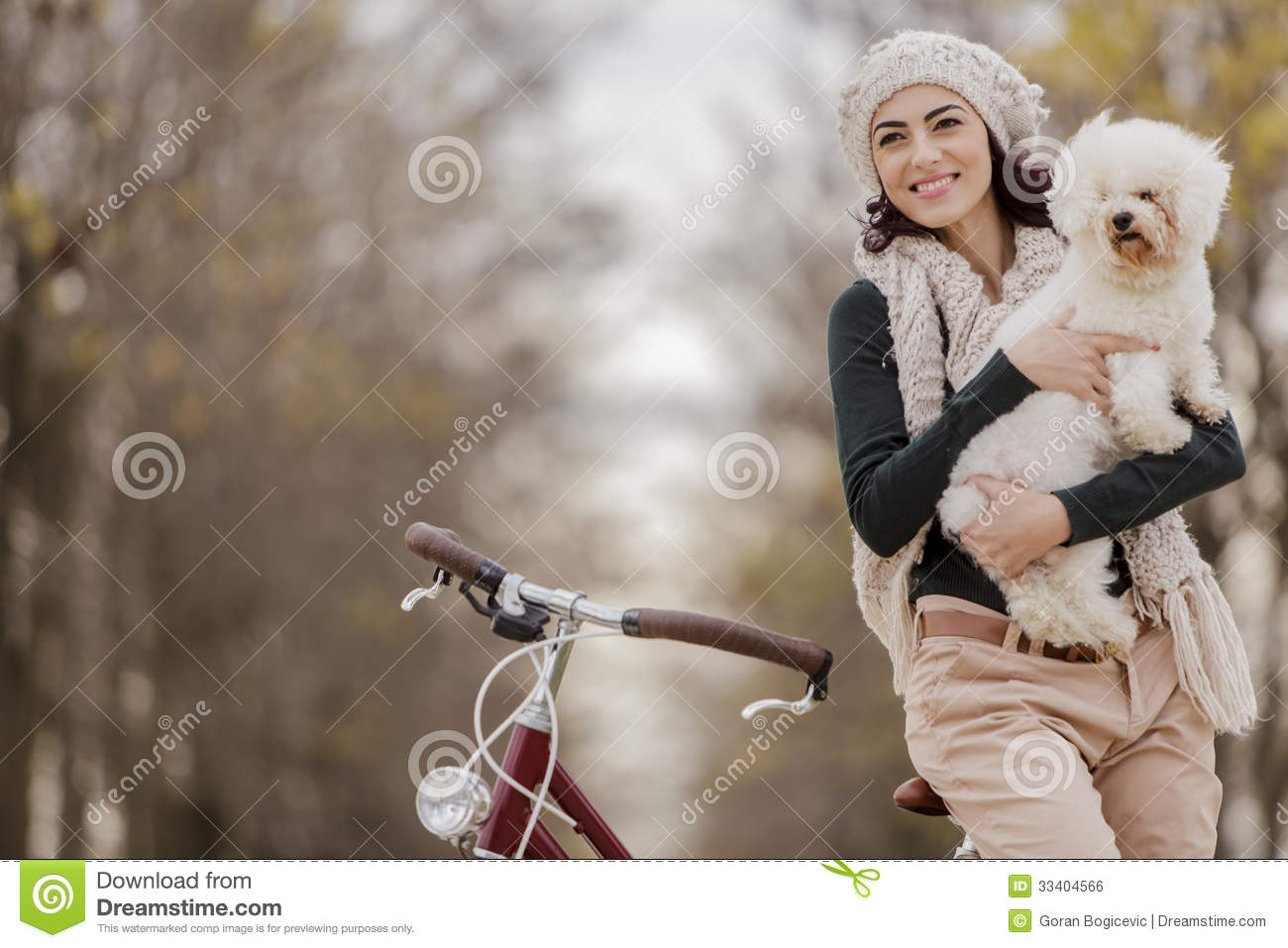 Young woman with a cute dog