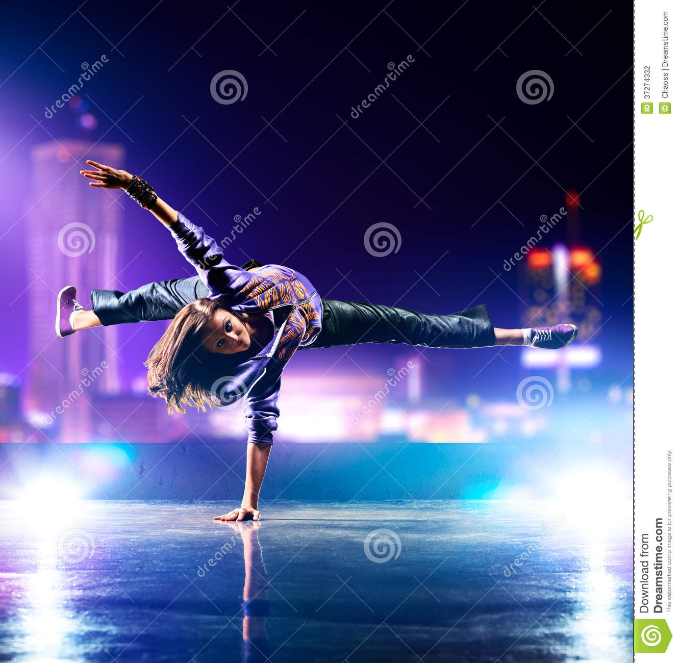 Download Young woman dancing stock photo. Image of dance, caucasian - 37274332