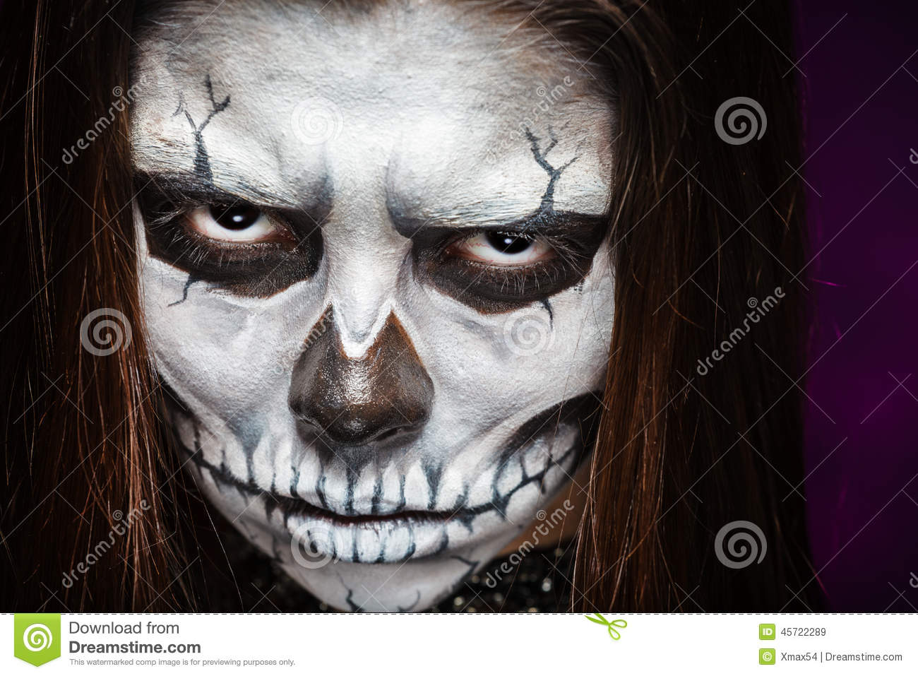 young woman in day of the dead mask skull face art royalty free stock images - Halloween Day Of The Dead Face Paint