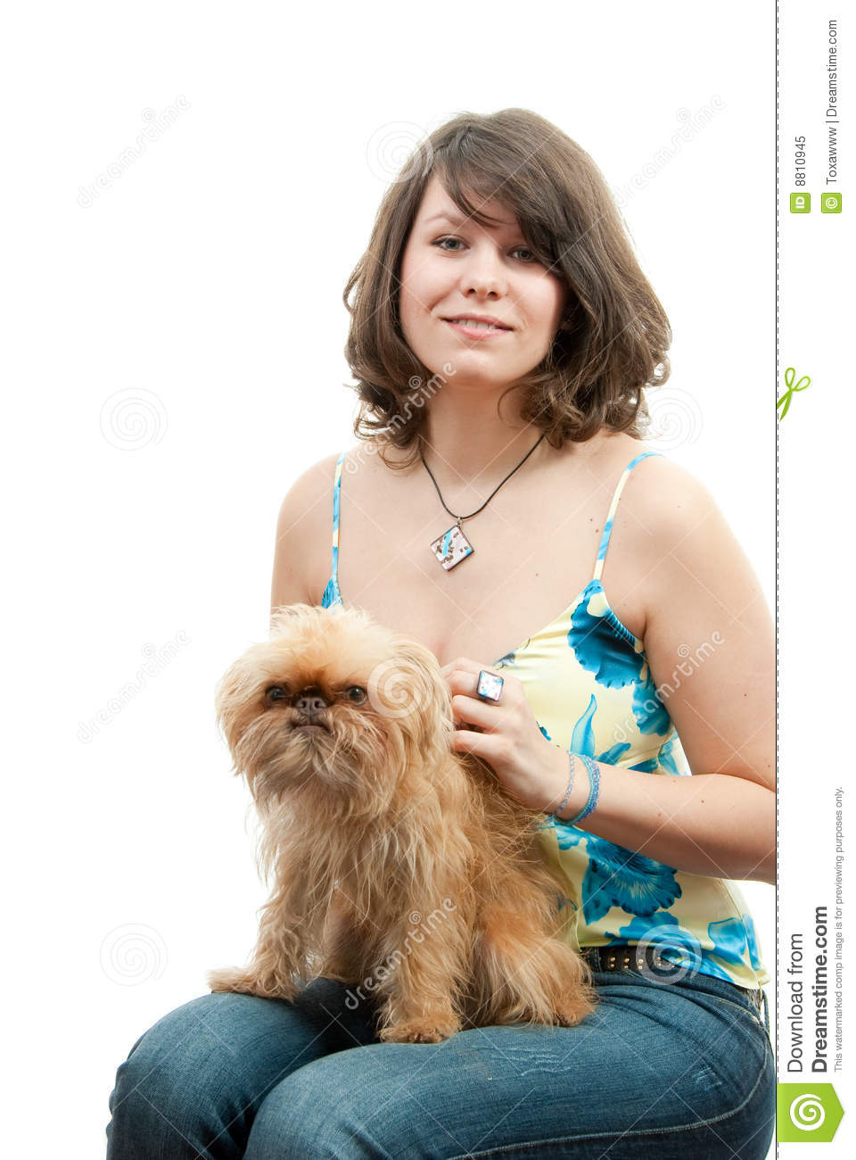 Young Woman With Dog Royalty Free Stock Photo - Image: 8810945