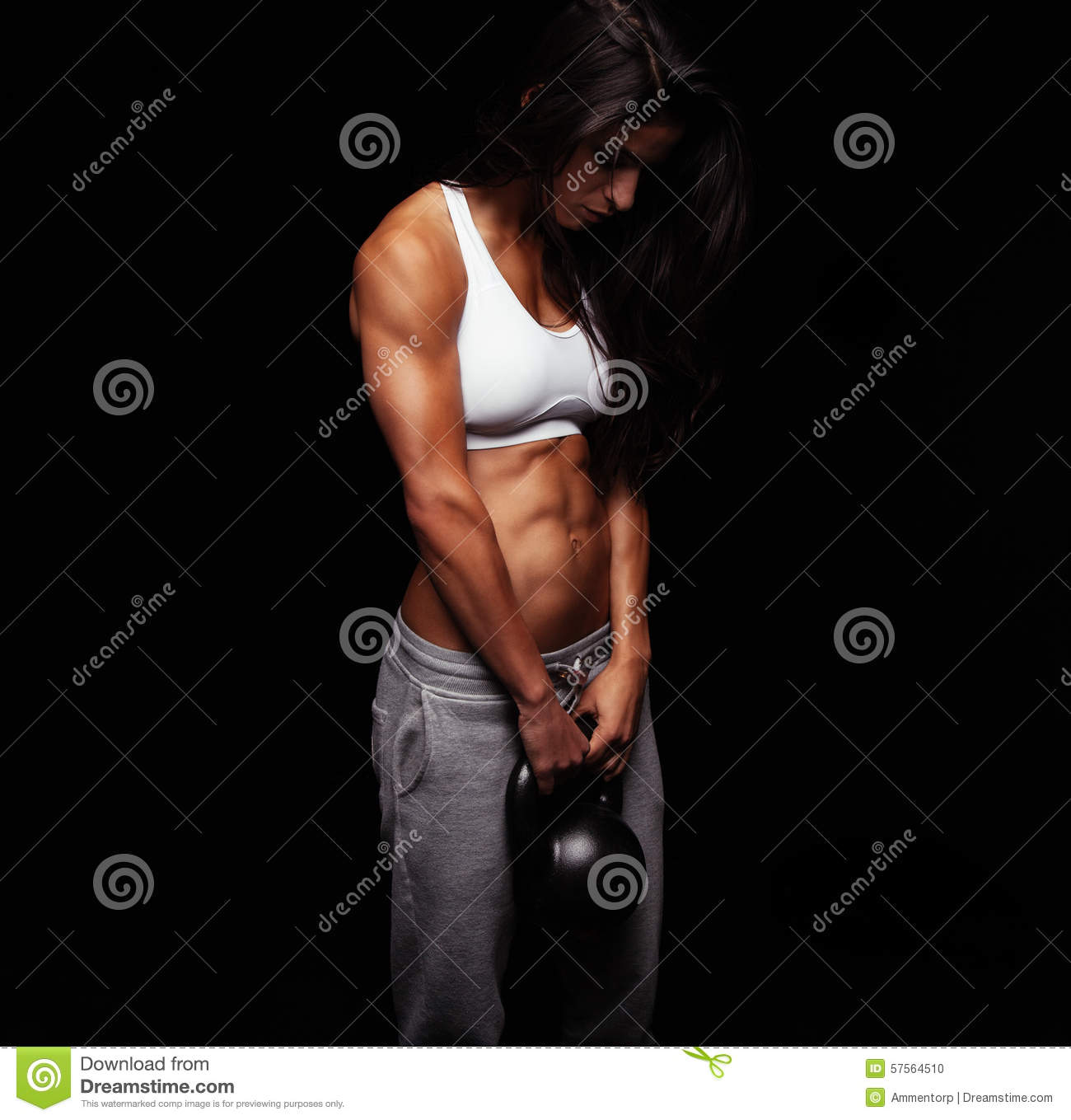 Women S Crossfit Workouts: Young Woman Doing Crossfit Workout Stock Photo