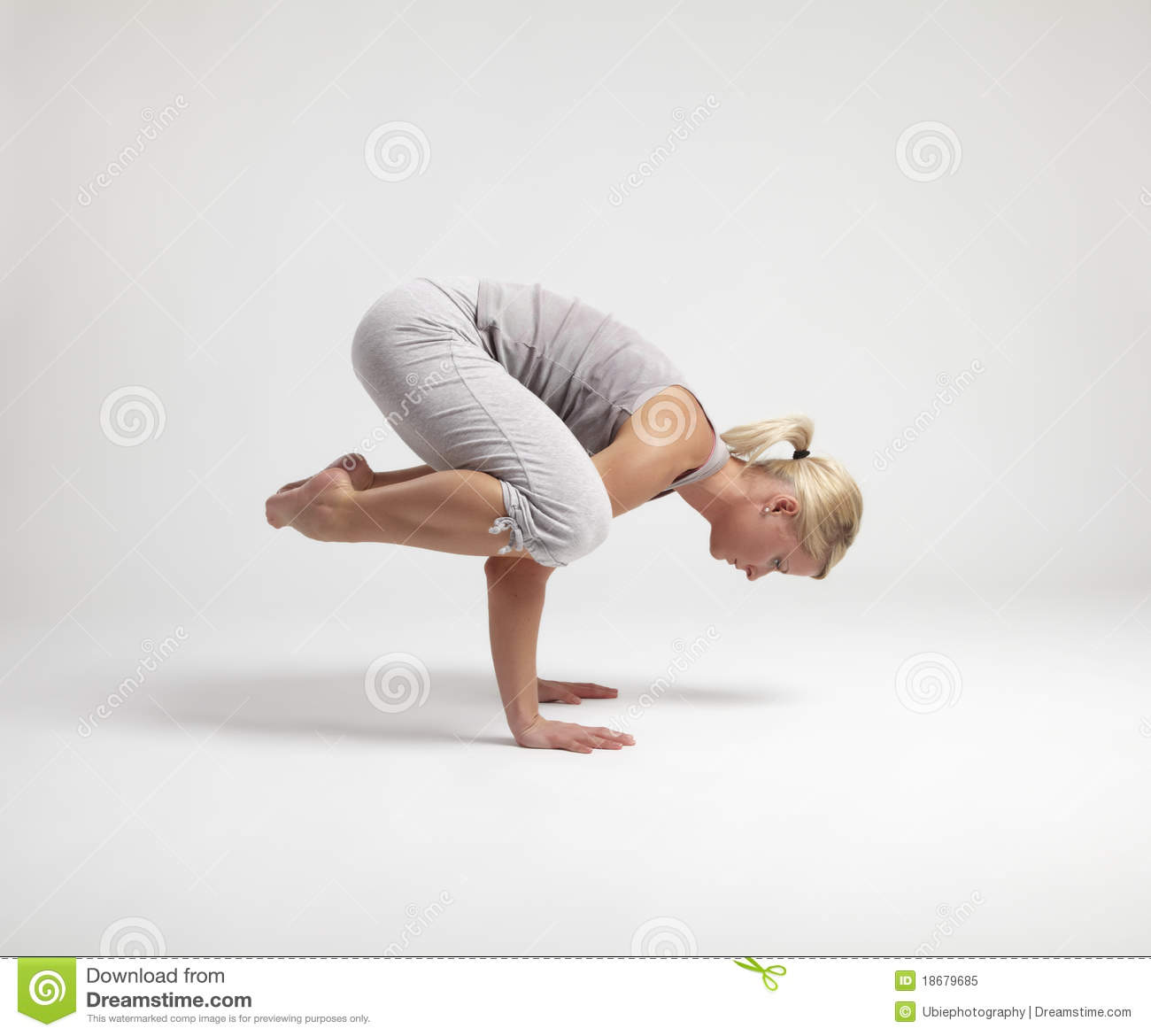 Young Woman Doing Yoga Exercise Royalty Free Stock Photo - Image ...