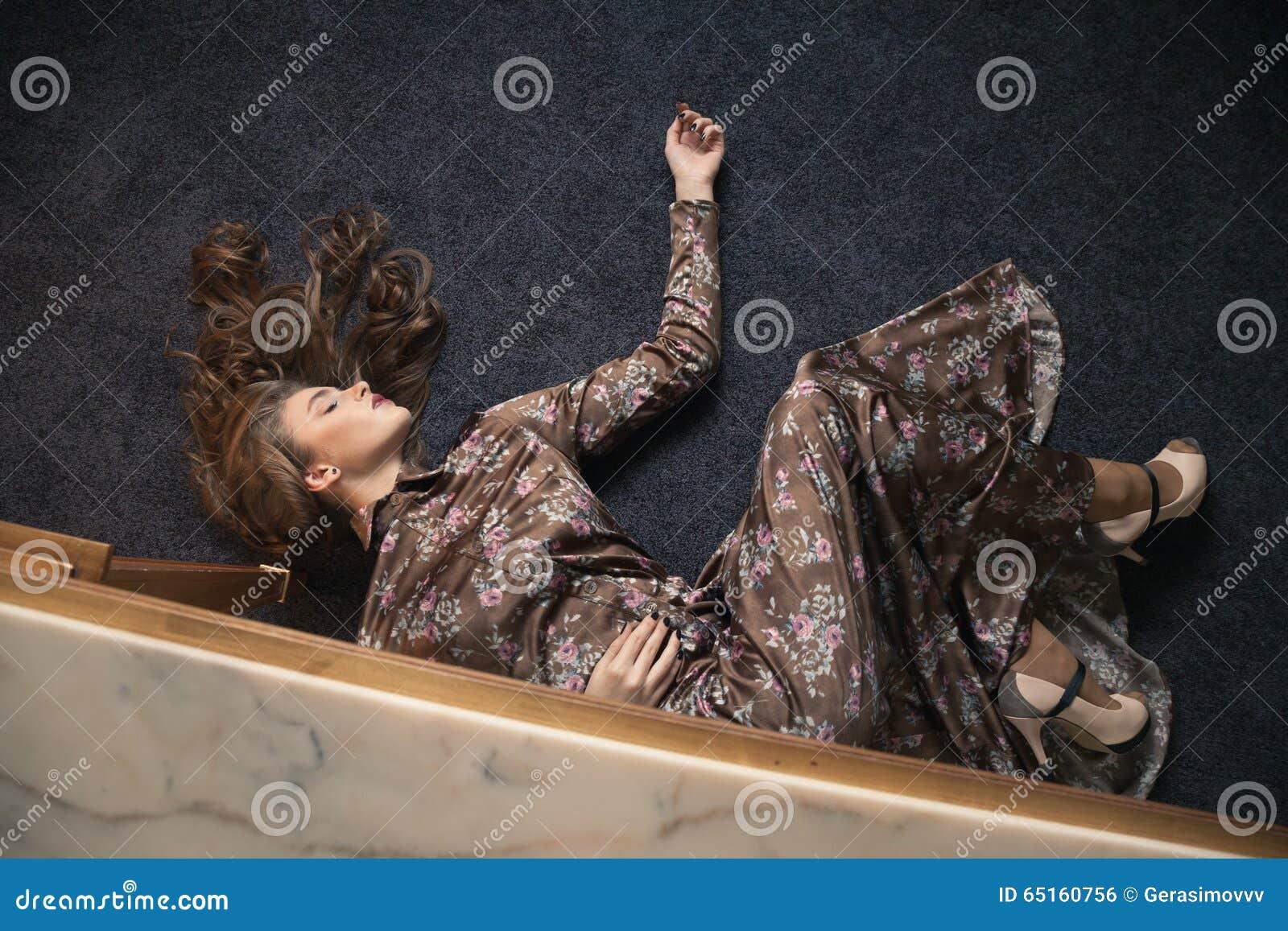dress on the floor