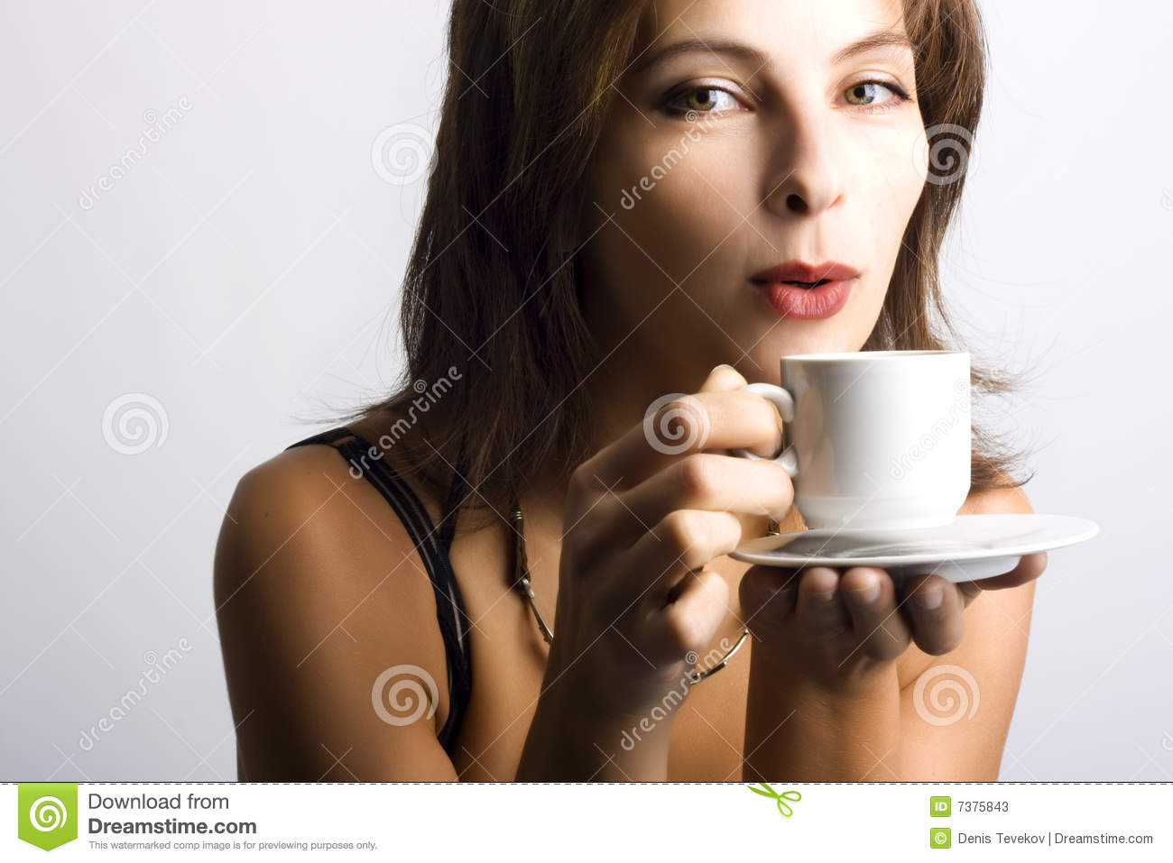 Yougn People Drinking Coffee