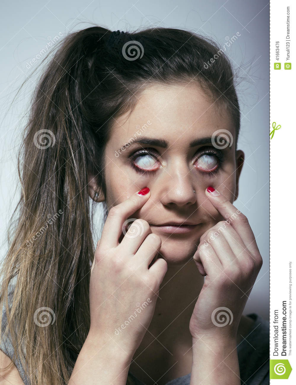 Young woman drug addict stock photo. Image of computer ...