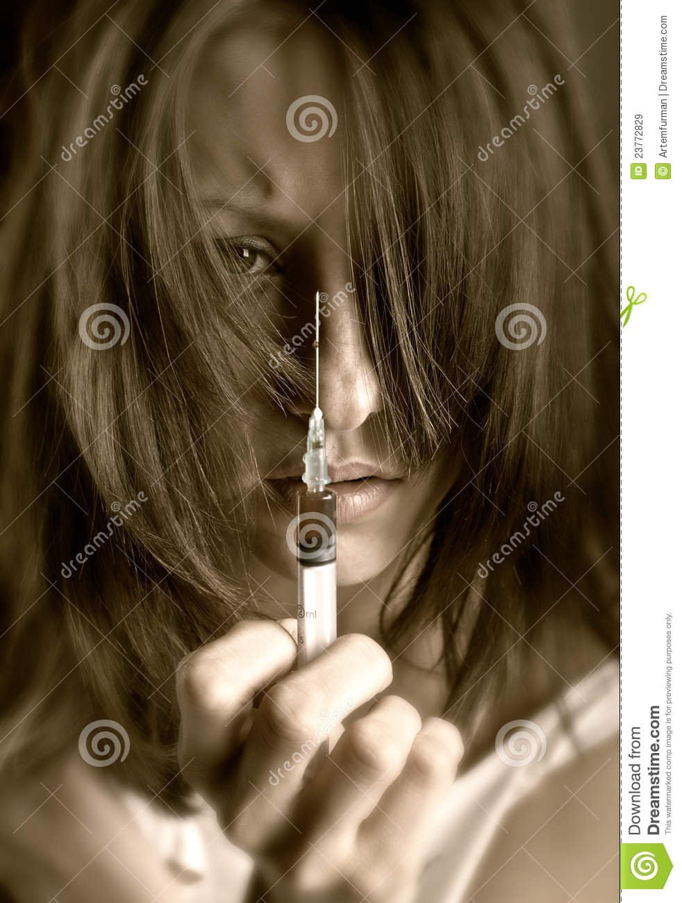 Young Woman With Drug Addiction Royalty Free Stock Images ...