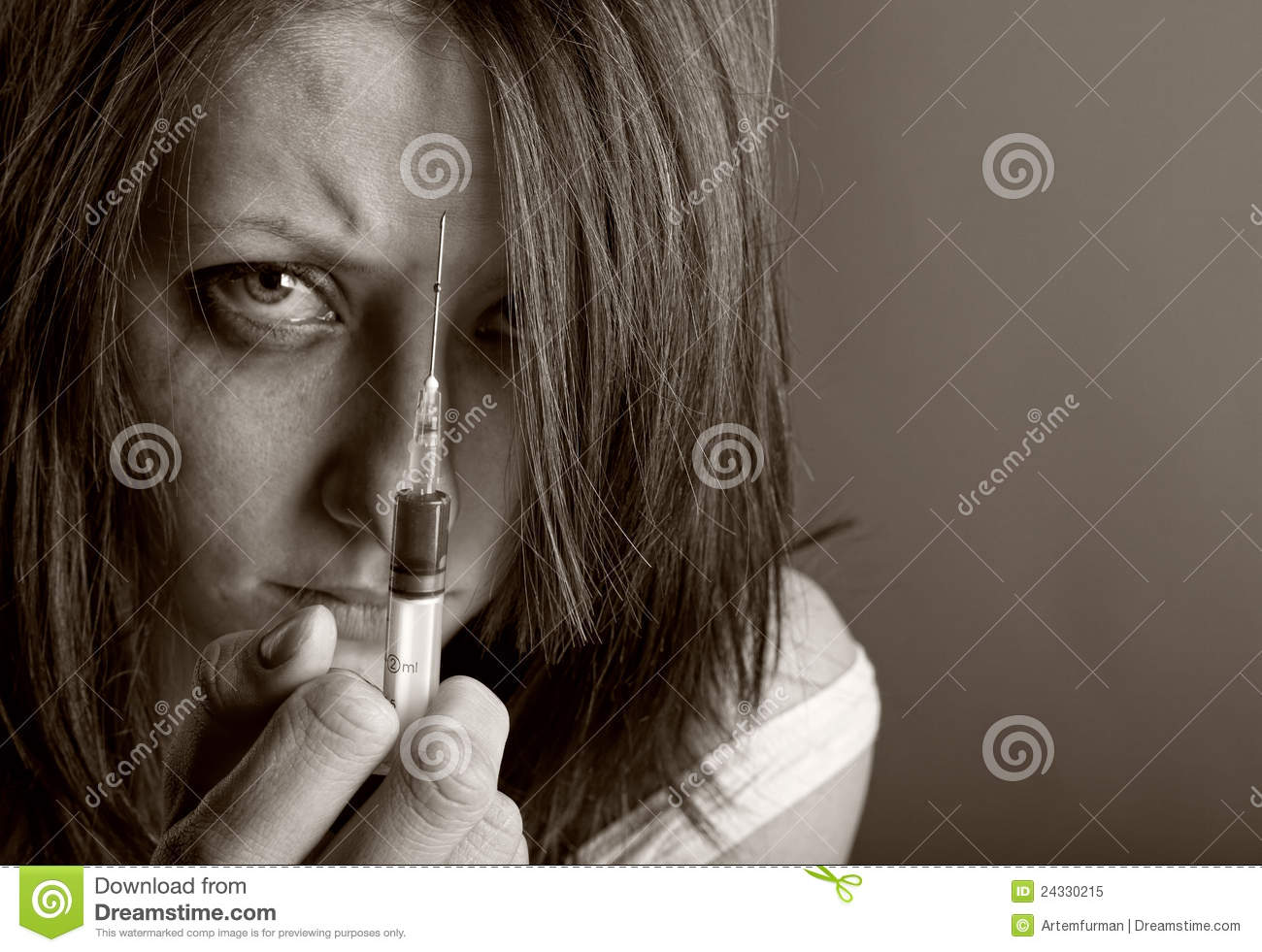 Young Woman With Drug Addiction Royalty Free Stock Photo ...