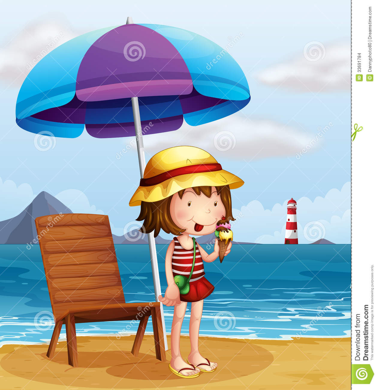 a young woman eating an icecream at the beach stock free lighthouse clipart business cards free lighthouse clipart images
