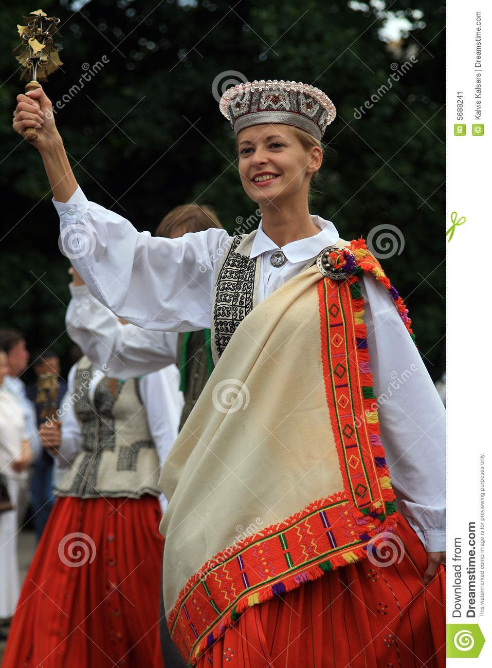 Young Woman In Folk Dress Editorial Photo Image Of Ethnic