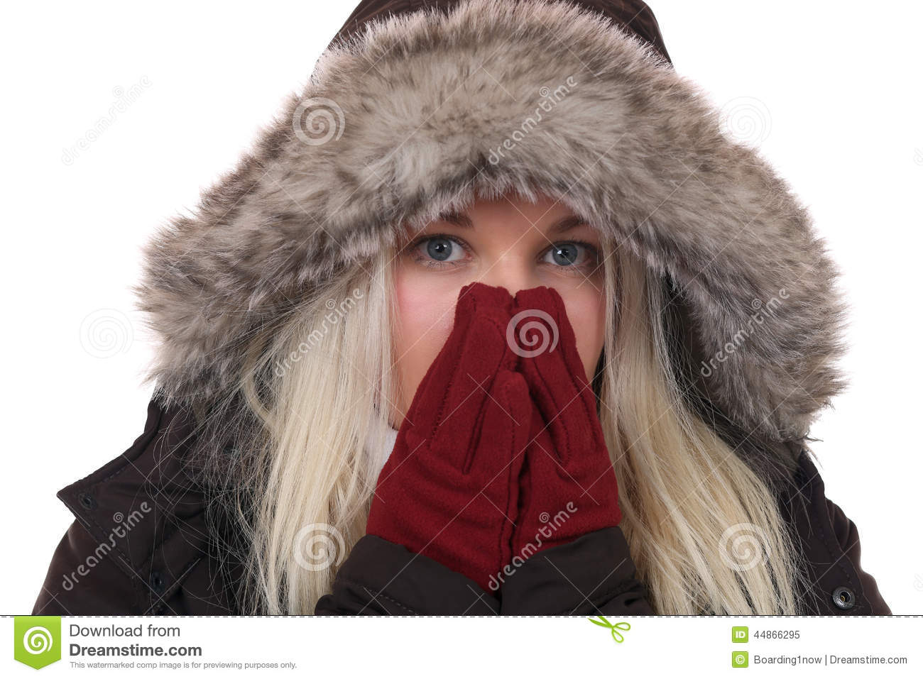 Freezing Cold Woman Young Woman Freezing I...