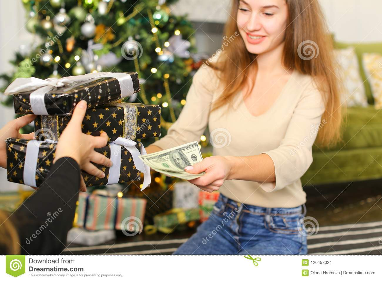 download dancer female getting present from best friend stock photo image of dancer - Christmas Gifts For Best Friend Female