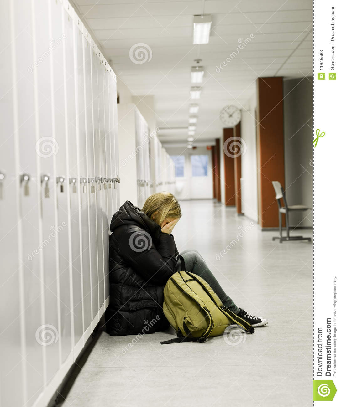 Young woman getting bullied at school