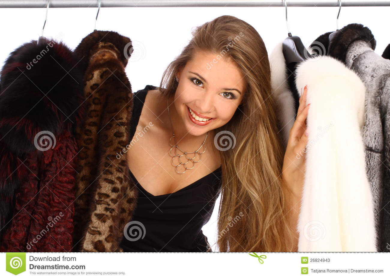 Young woman in her dressing room