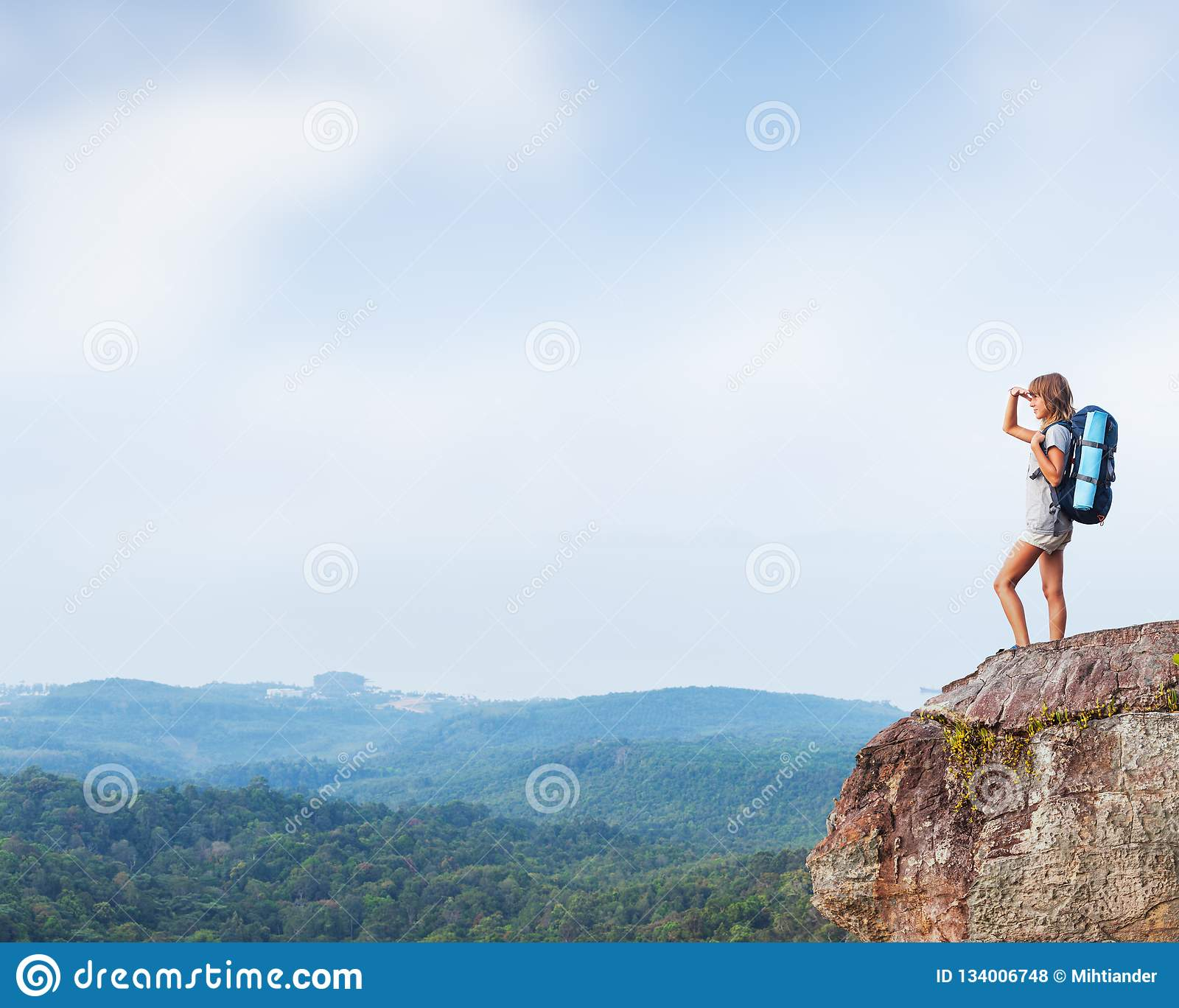 Young woman hiker