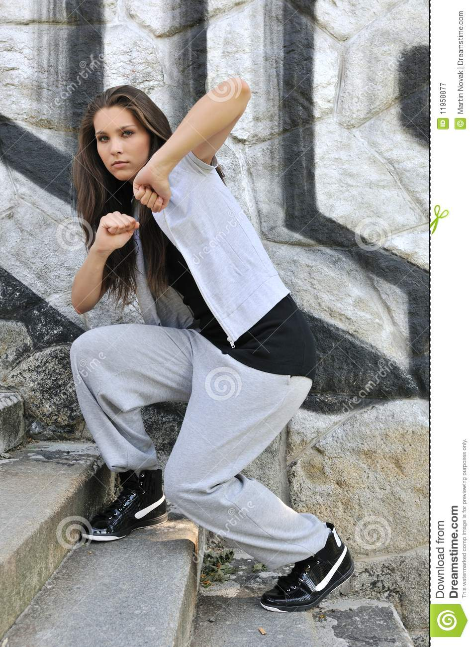 Young Woman In Hip Hop Style Dance Royalty Free Stock Photography ...