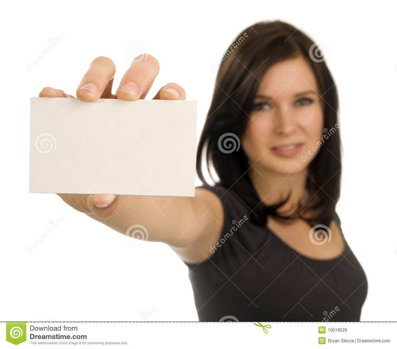 Young woman holding a blank business card stock image image of young woman holding a blank business card stock image image of cheerful business 10019529 reheart Choice Image