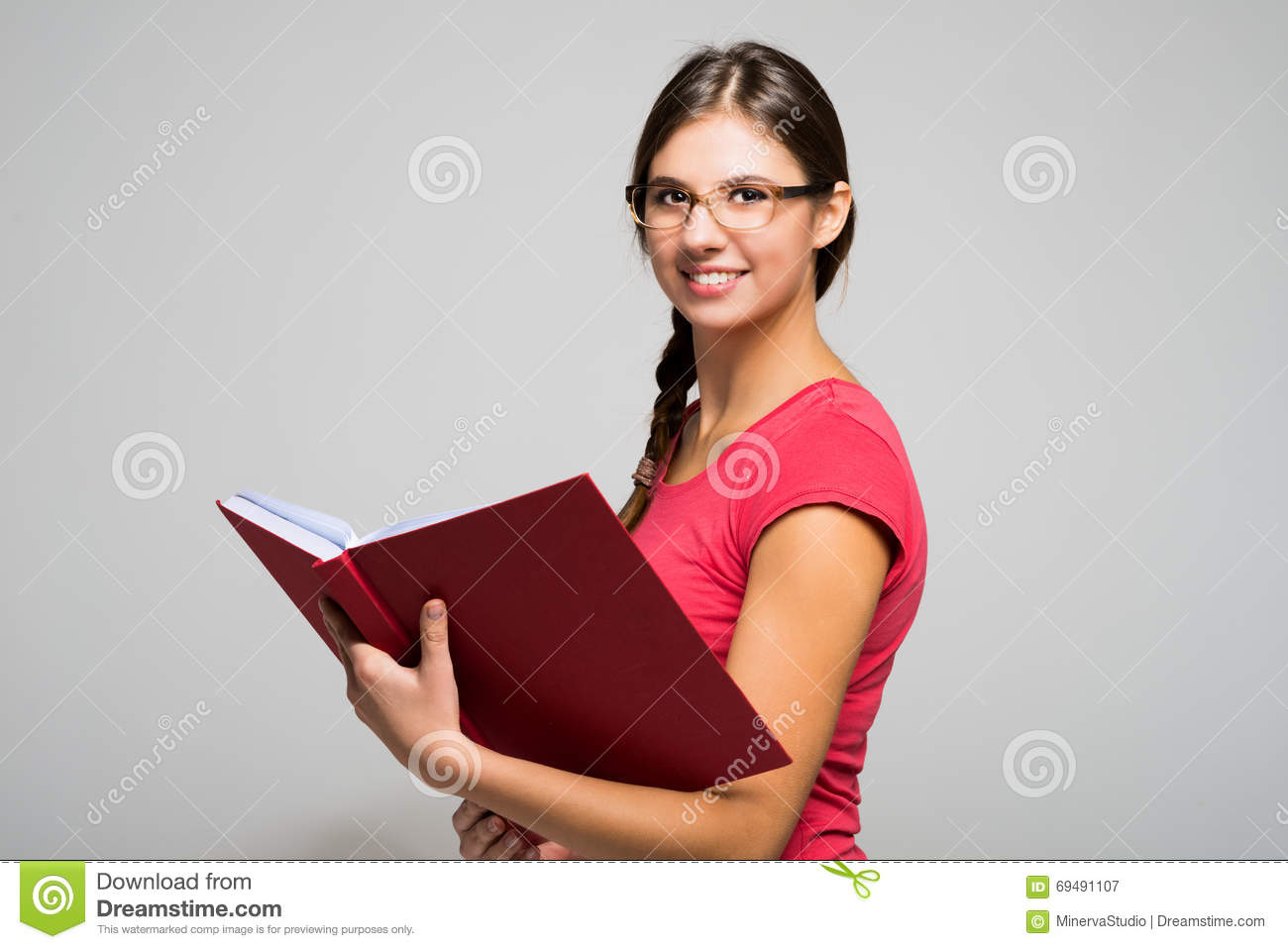 Young Woman Holding A Book Stock Image Image Of Business