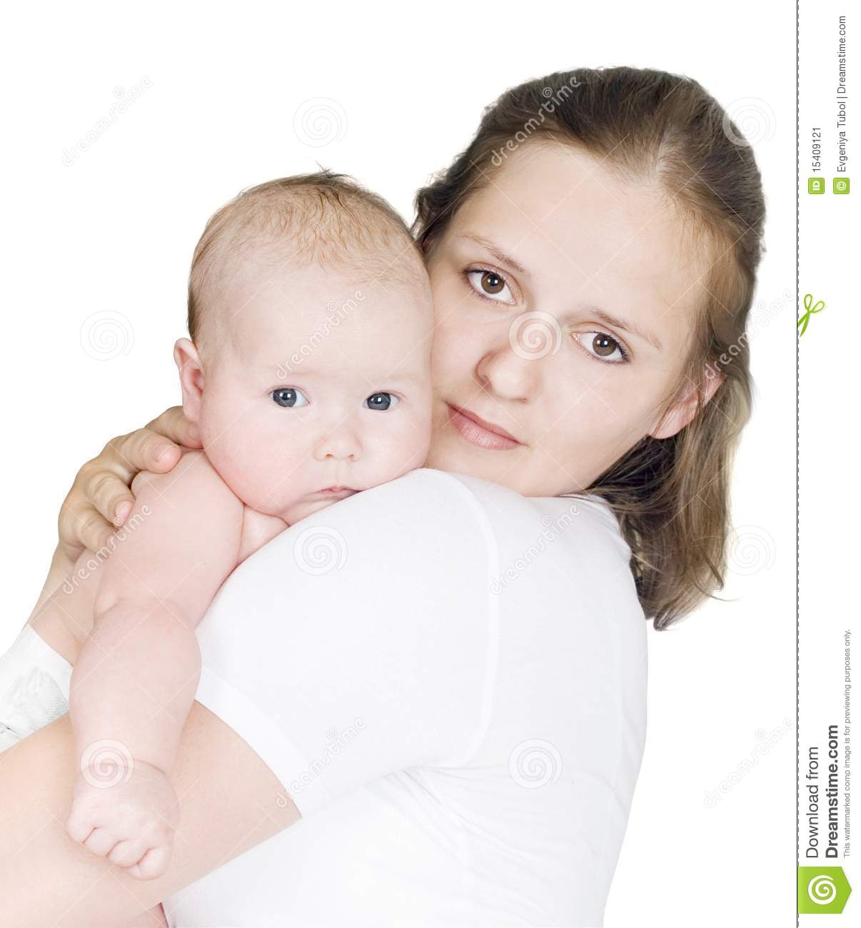 Young Woman Holding A Child Stock Image - Image: 15409121