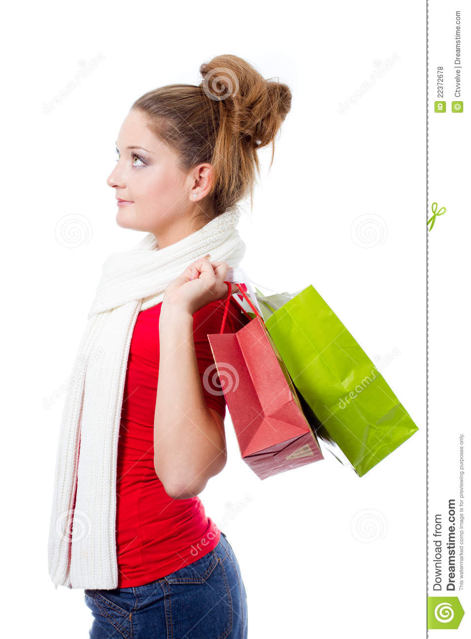 Innovative Woman Holding Shopping Bags Stock Picture I1628053 At FeaturePics