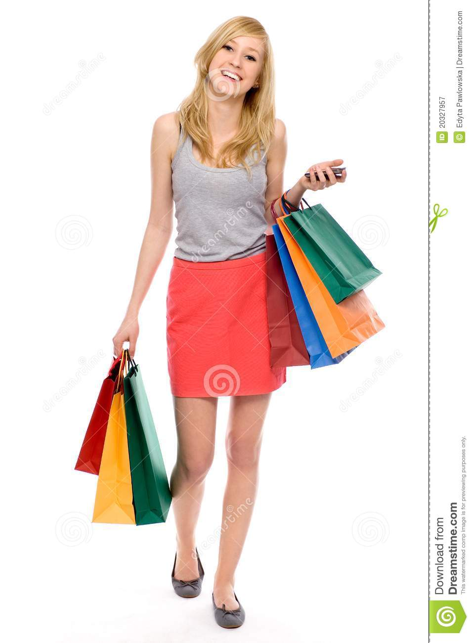 Wonderful Shopping Woman Holding Bags Isolated On Stock Photo 121251316 - Shutterstock