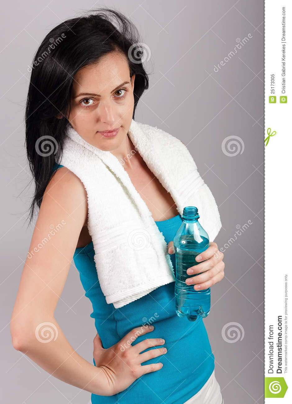 Young Woman Holding Water Bottle Royalty Free Stock Photo ...