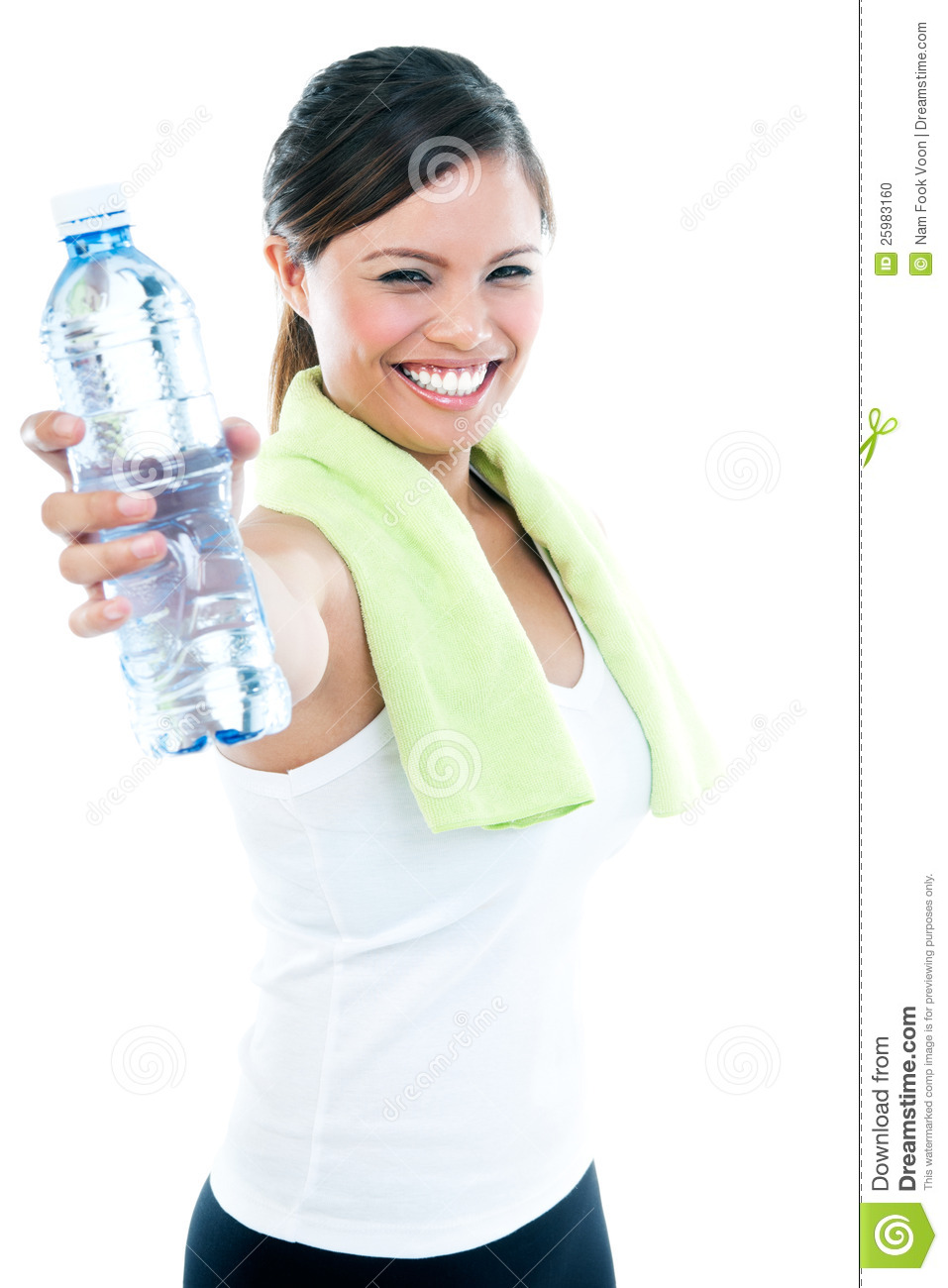 Young Woman Holding Water Bottle Stock Photo - Image: 25983160