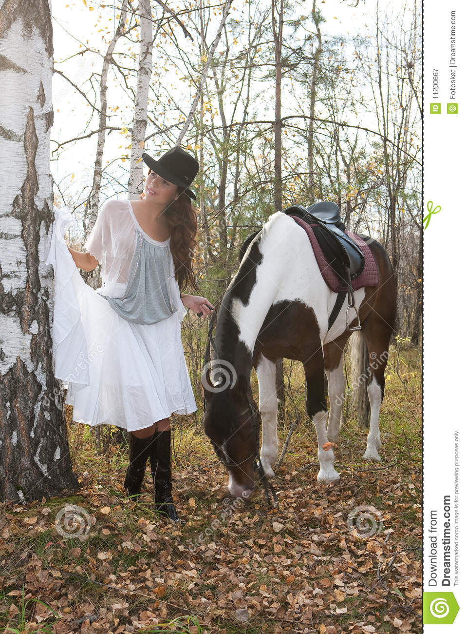 Young Woman And Horse Royalty Free Stock Photography ...