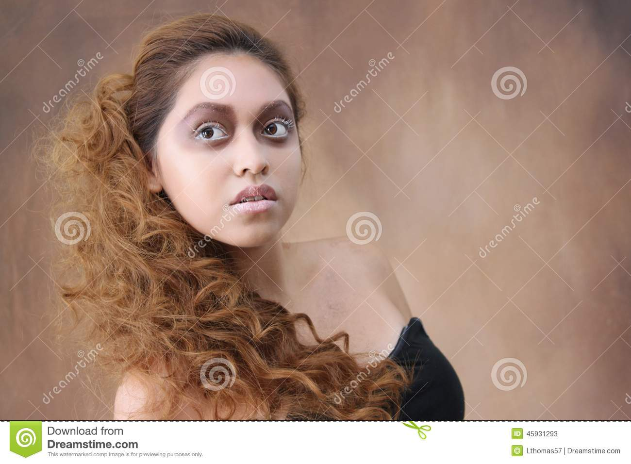 Young Woman With Ice Princess Makeup Stock Image Image Of Young