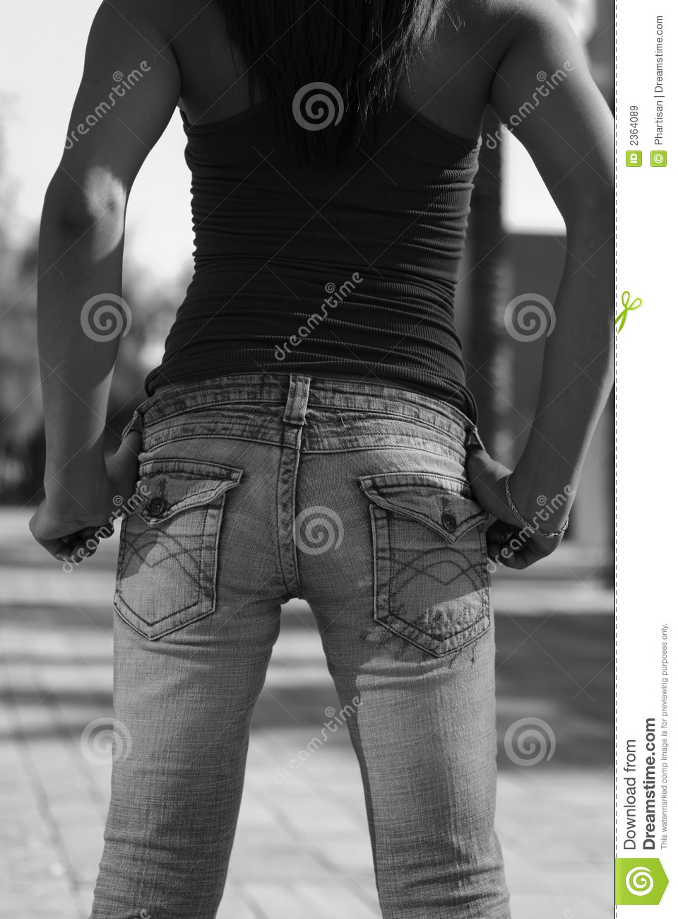 Young Woman in Jeans backside