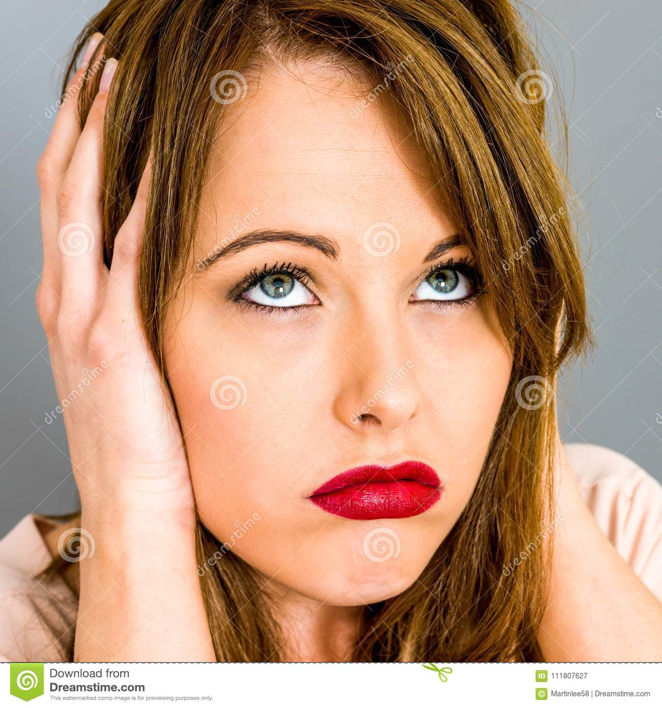 Young Woman Looking Bored And Upset