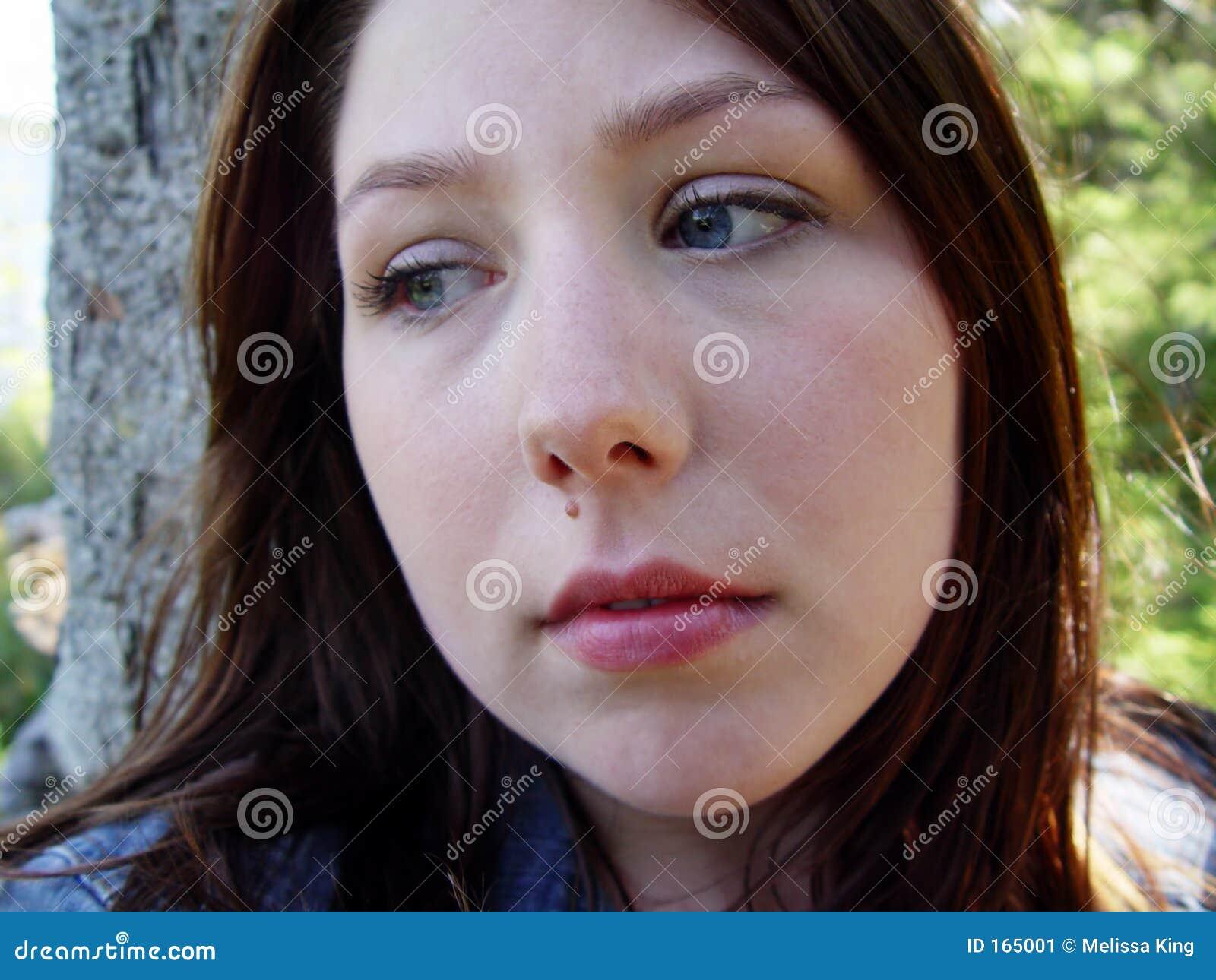 Young Woman Looking Sad