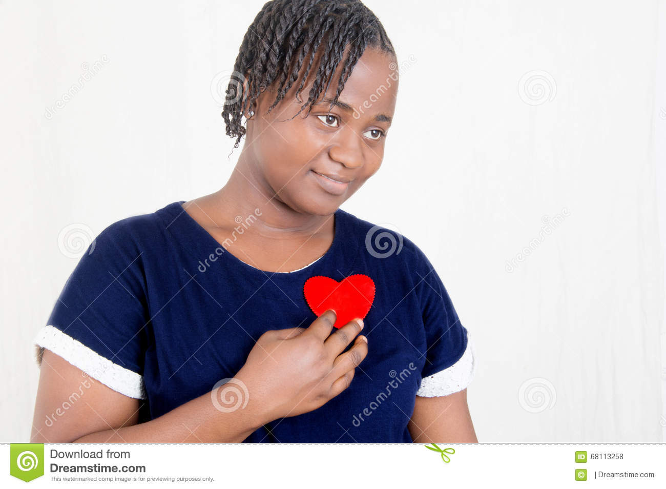 Download Young woman in love stock photo. Image of hand, person - 68113258