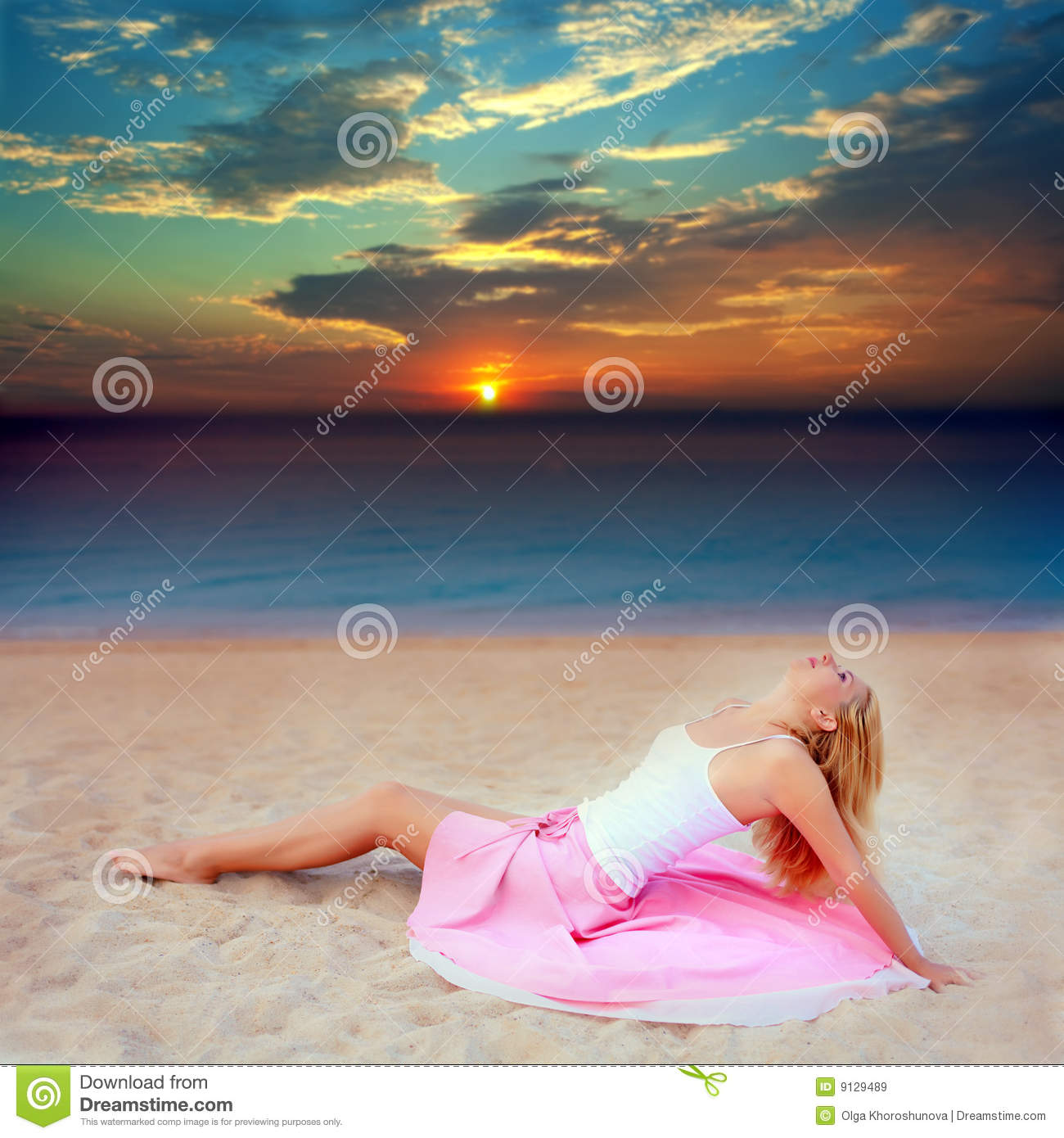 Young Woman Near The Ocean Stock Image. Image Of Fresh