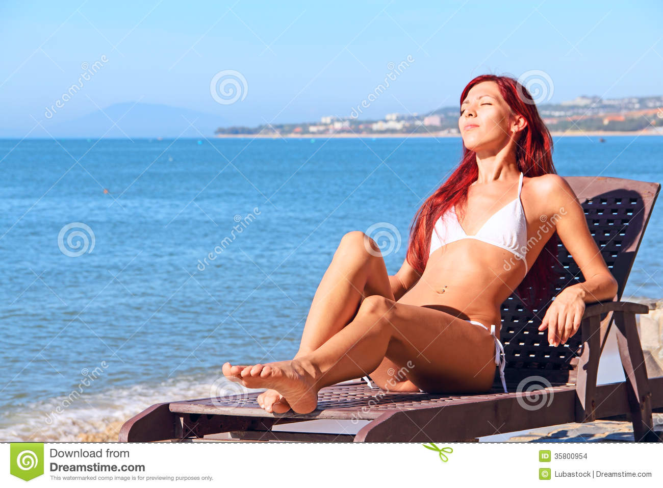 Young Woman Near Sea Stock Images Image 35800954