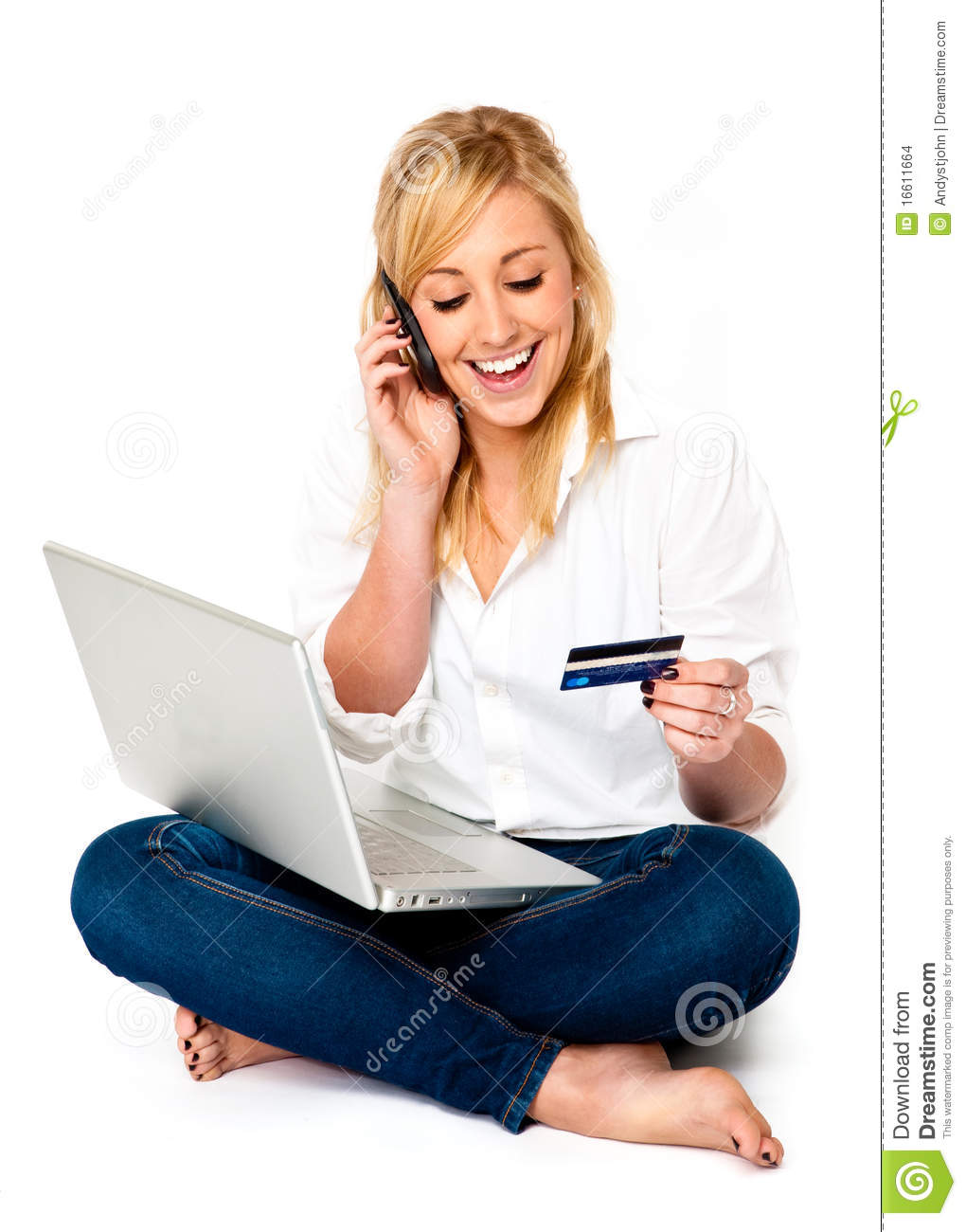Young Woman Online Shopping Stock Images - Image: 16611664