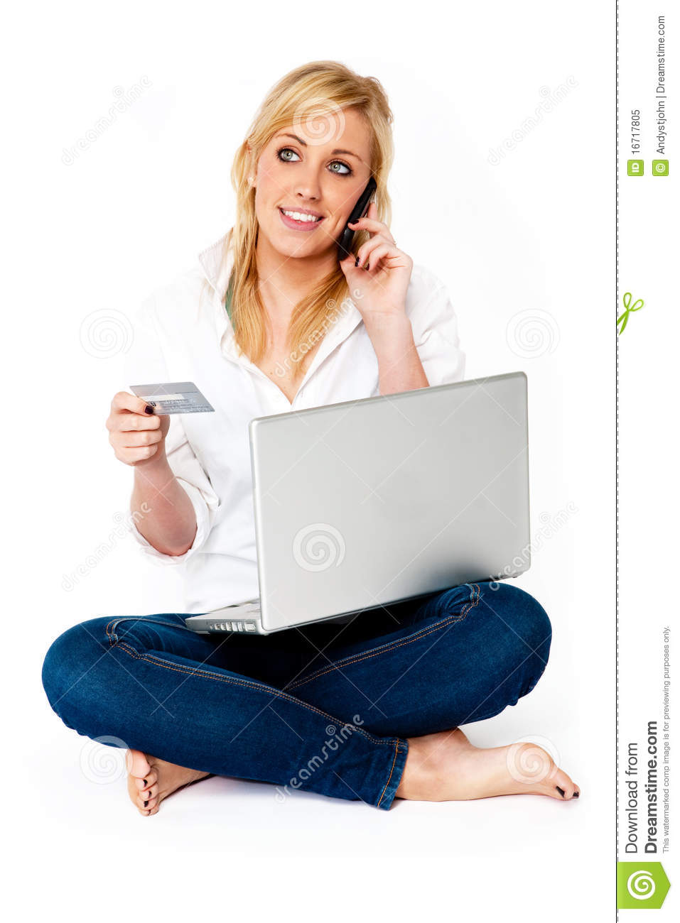 Young Woman Online Shopping Royalty Free Stock Photo ...