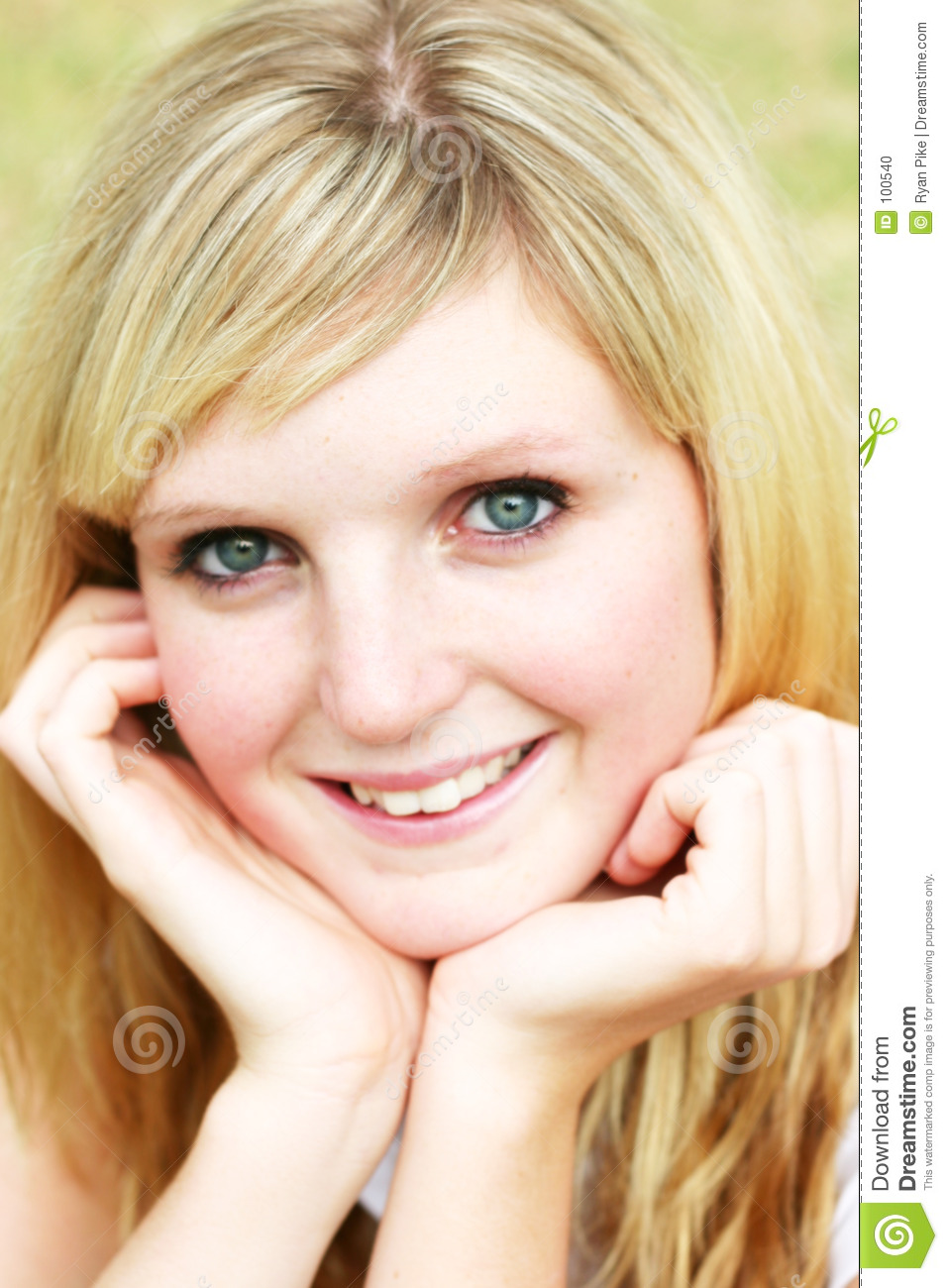 Download Young woman portrait stock photo. Image of face, summer - 100540