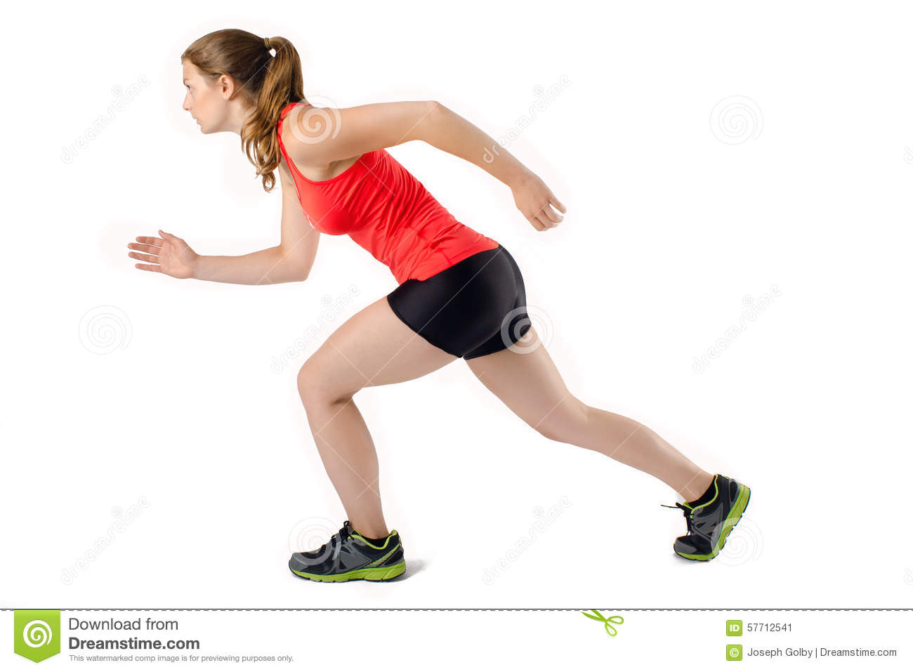 young woman ready to run race female sports athlete runner stock image image of athlete. Black Bedroom Furniture Sets. Home Design Ideas