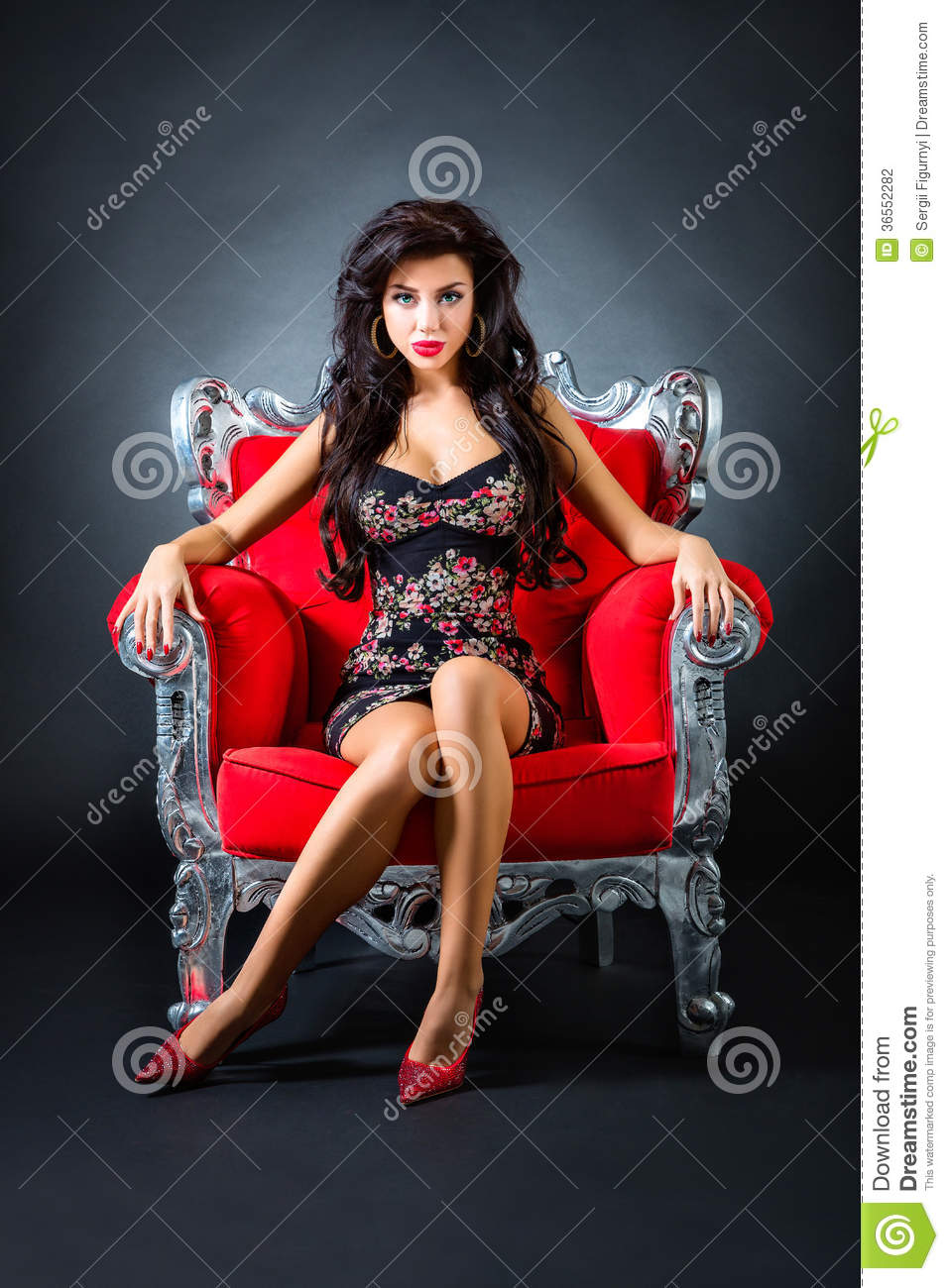 Red chair photography - Royalty Free Stock Photo