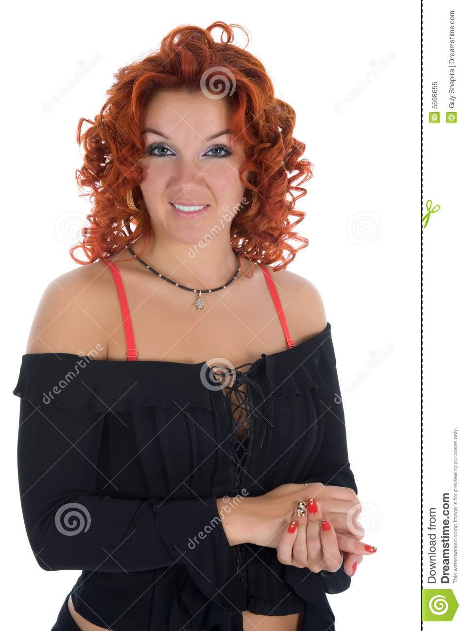 Young woman with red hair