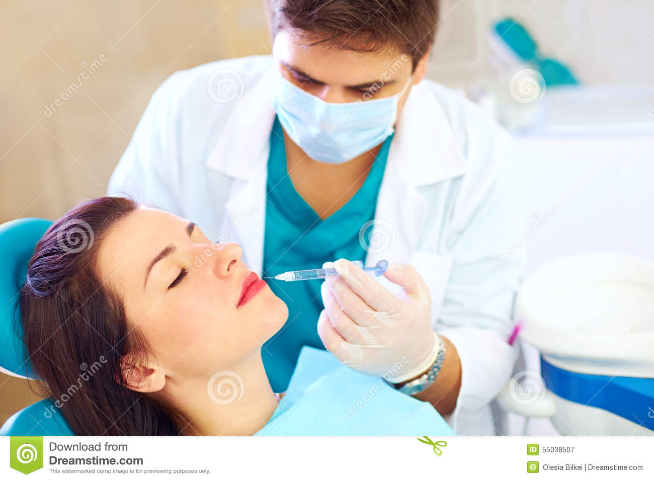 Young Woman On Rejuvenation Procedure In Beauty Clinic