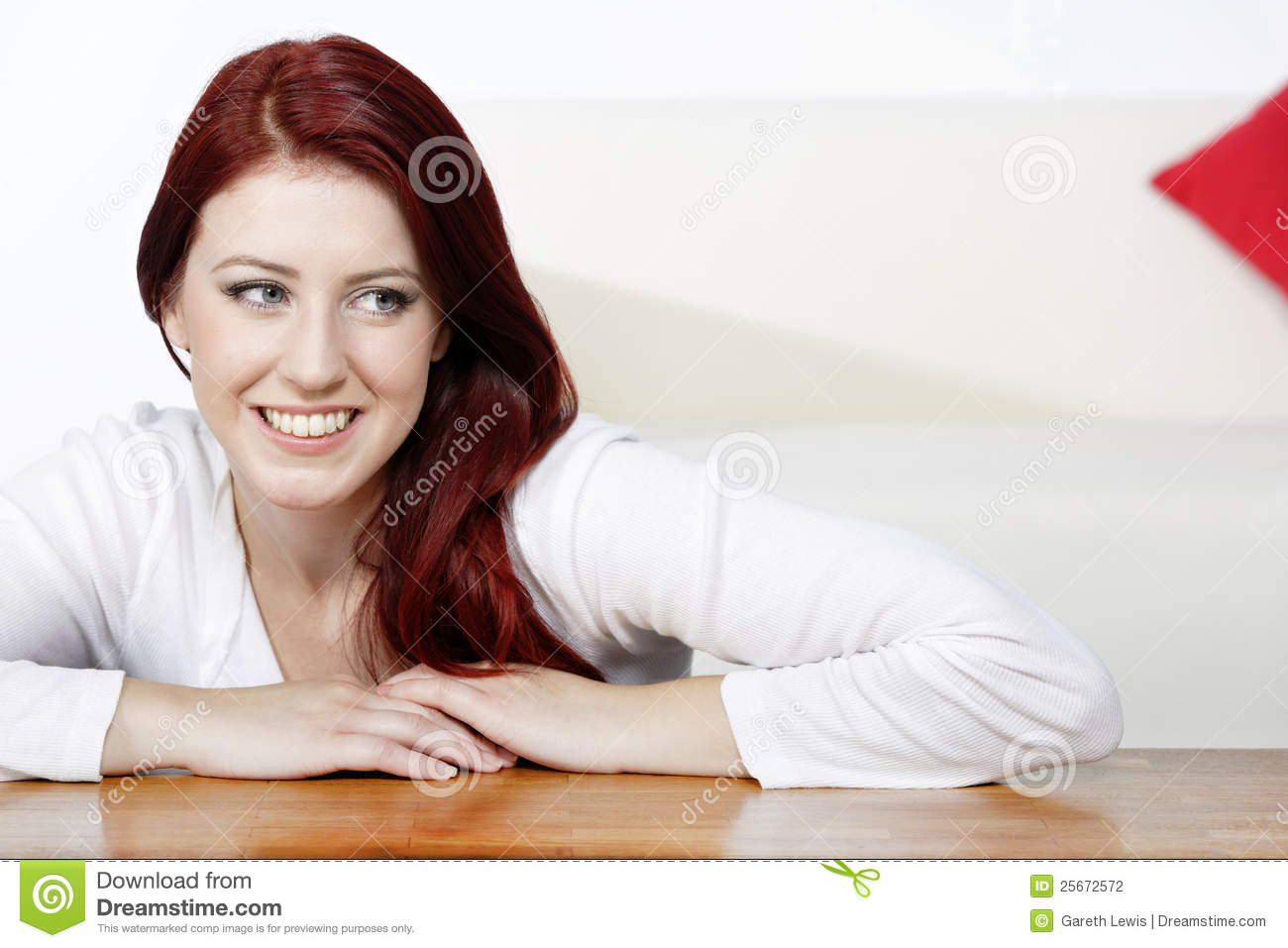Young Woman Relaxing At Home Stock Photography Image