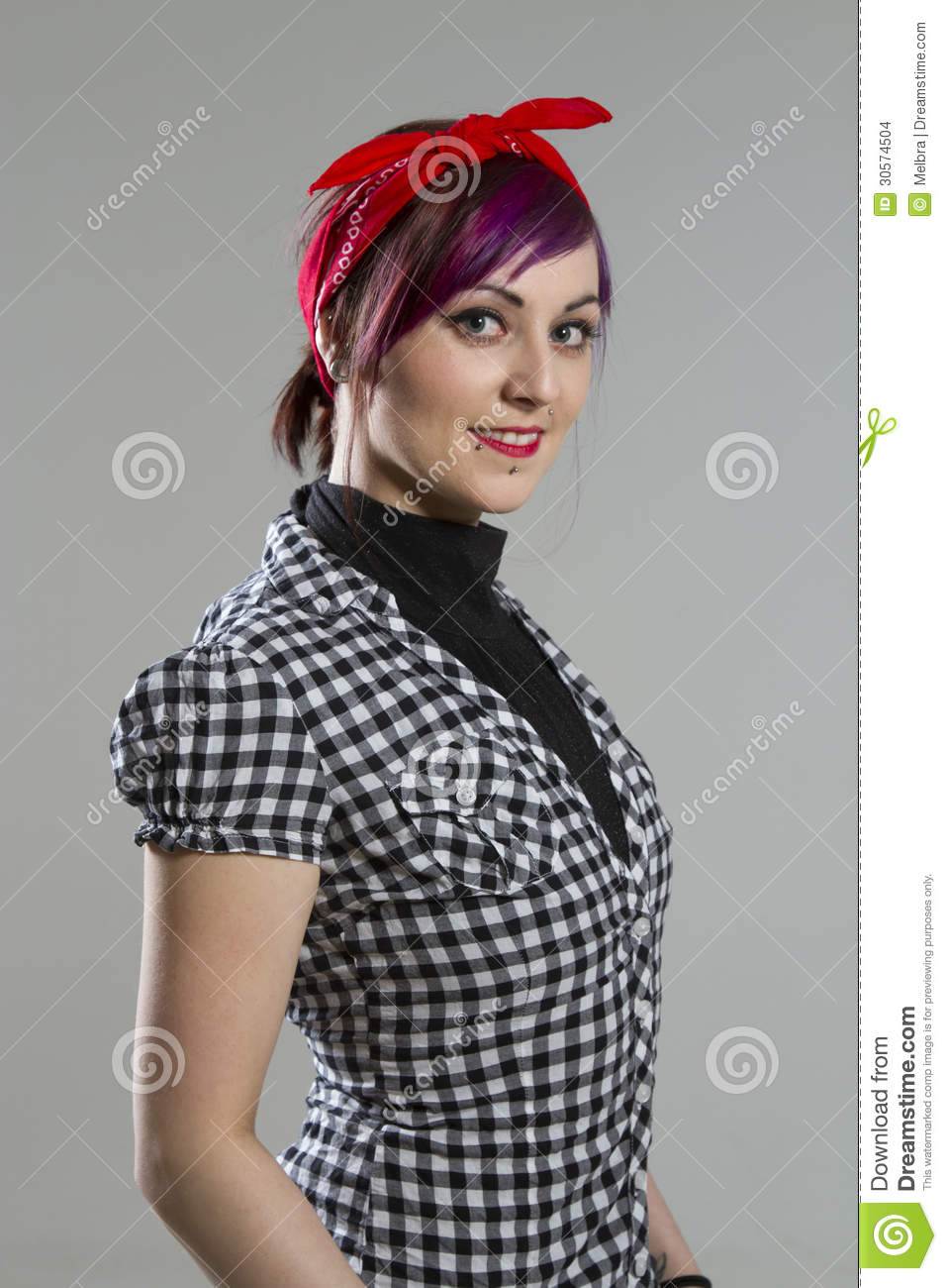 Young Woman In Rockabilly Style Stock Photo Image Of