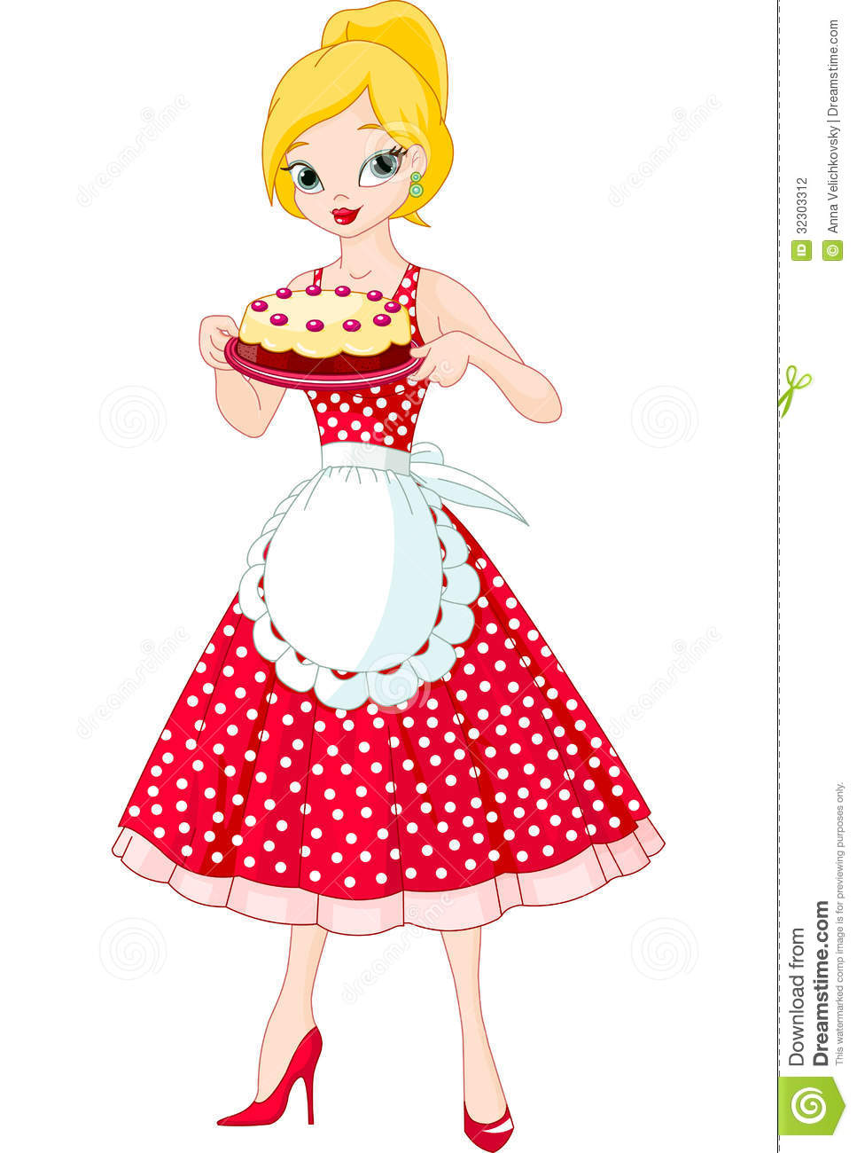 Female Art Birthday Cake Images