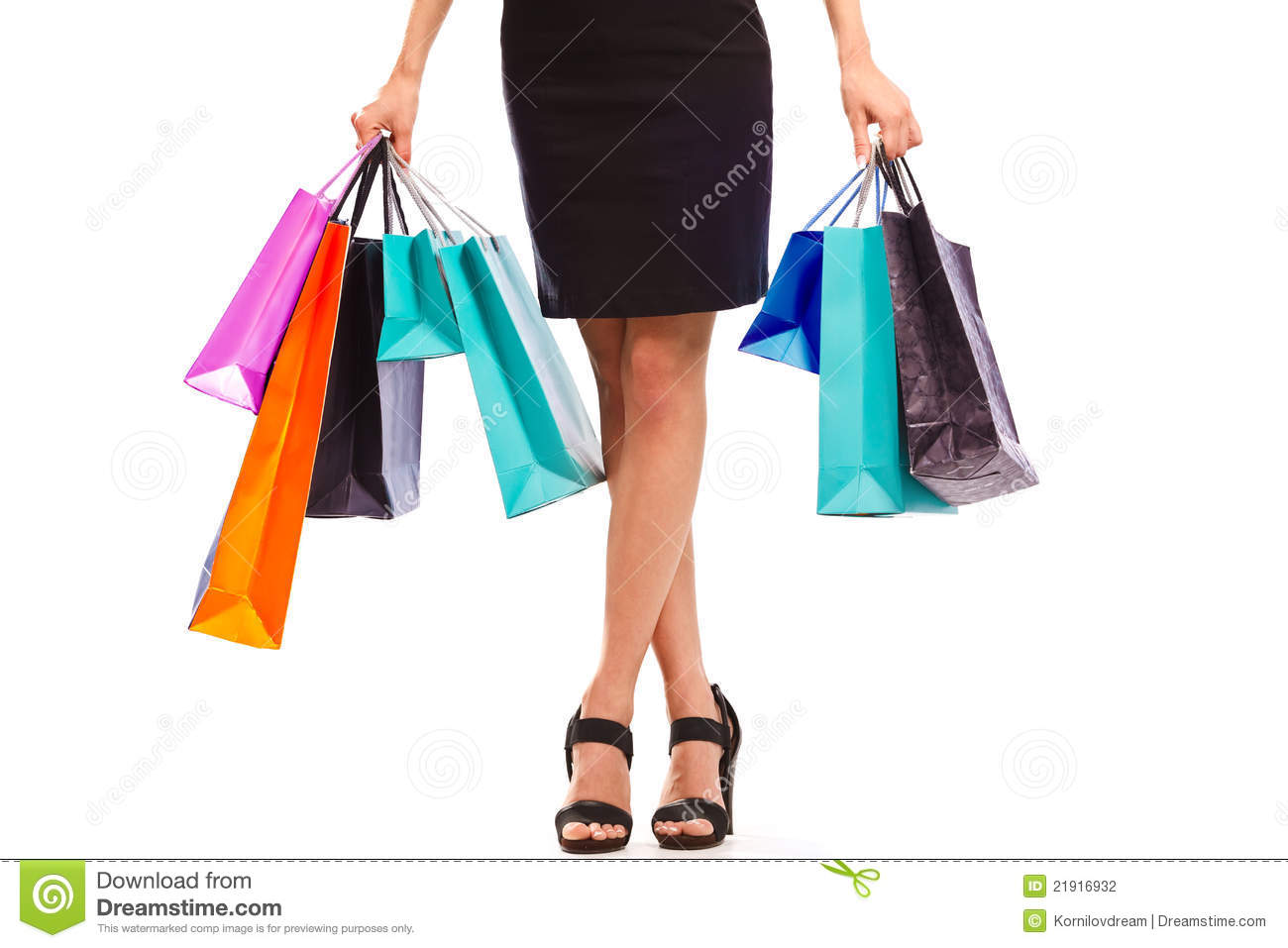 Young Woman With Shopping Bags Stock Photography - Image: 21916932