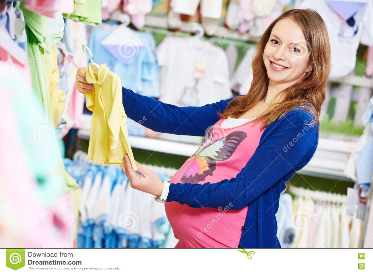 759c6a039 Young Woman Shopping During Pregnancy Stock Photo - Image of ...