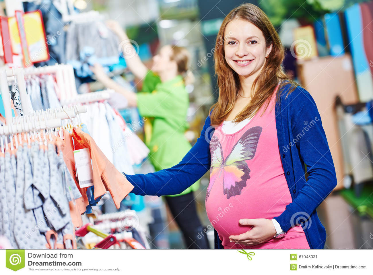db7ceb717 Young Woman Shopping During Pregnancy Stock Image - Image of ...