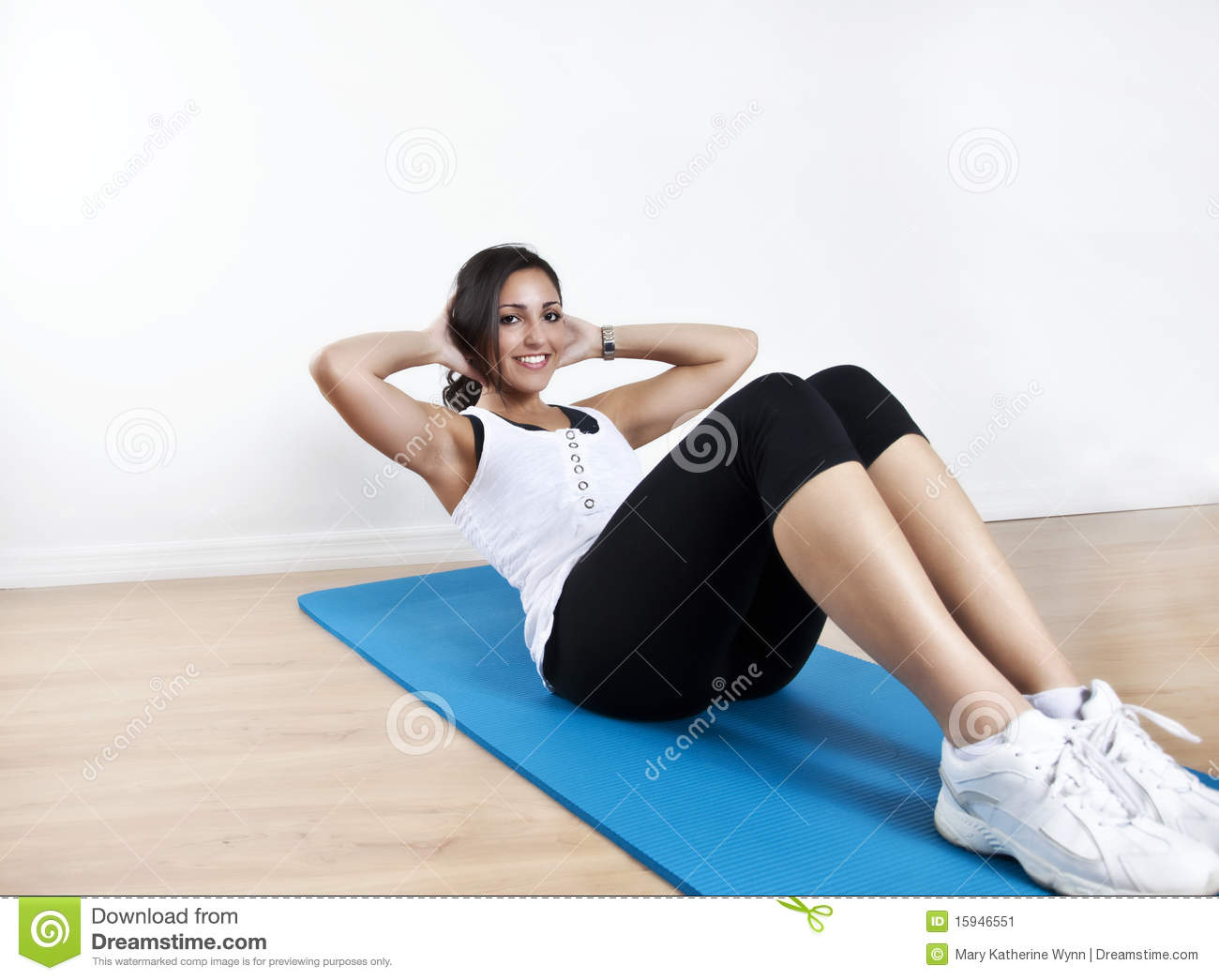 Young Woman Sit Up Stock Image Image Of Core Beautiful