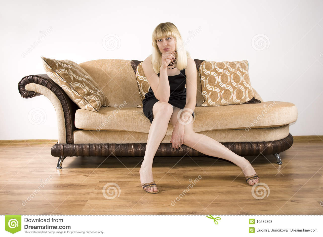 Young Woman On A Sofa Stock Photo Image Of Allure