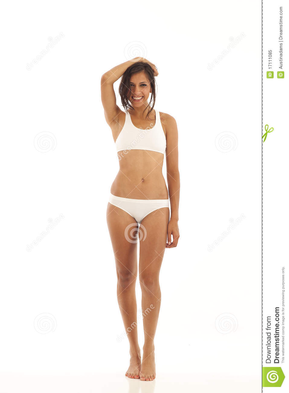 1acf0fadd69 Young Woman With Sports Bra And Underwear Stock Image - Image of ...